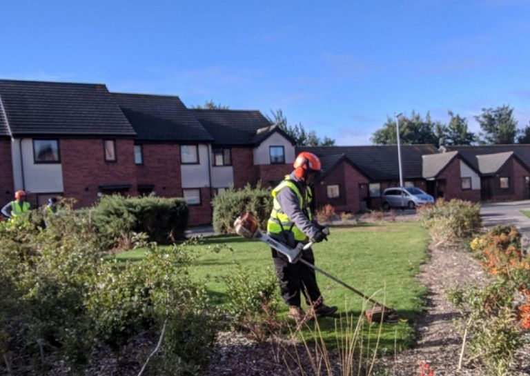 gritit, grounds maintenance, strimming, groundwork, ppe